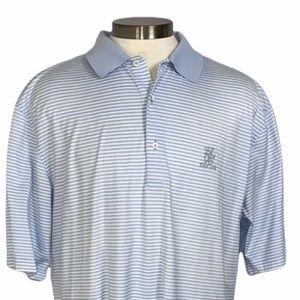 East Lake Striped Fairway & Green Golf Shirt XL